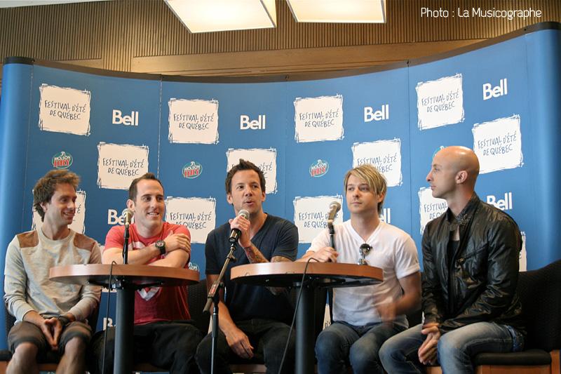 Simple Plan - Conférence de presse - Festival d'été de Québec 2011