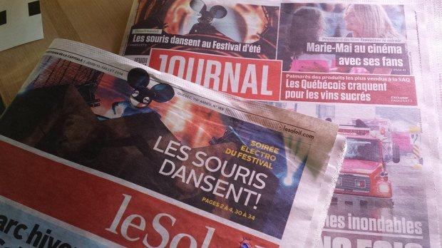 On voit que les deux journaux ne se sont pas parlés avant!